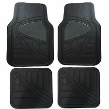 Streetwize 4 Piece Heavy Duty Rubber Black & Grey AURORA Car Van Mat 4x4 Set