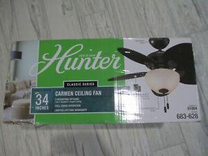 Hunter Carmen 34 in.  New Bronze Ceiling Fan with Light