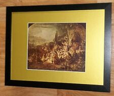 """Incorniciato 12"""" x16"""", REMBRANDT, BIBBIA dipinti, i comandanti dipinti, Giovanni Battista il"""