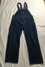 Vtg Big Ben Overall Bib Jeans Mens 40x31 Carpenter Farmer Work See Description