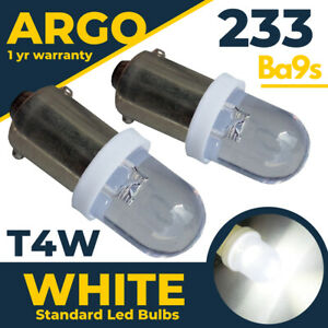 2x 233 Ba9s Gauge Dials Classic Super White Led Side Light Bulbs Glb233 Glb989
