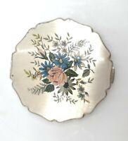 Vintage Stratton Makeup Compact Floral Enameled England