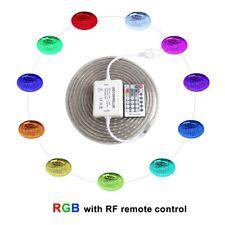 220V RGB Led Strip Light +Remote Controller Waterproof Flexible Ledstrip 5050