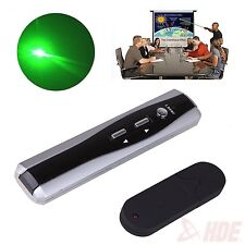 Wireless USB Remote Control Clicker Green Laser Pointer PPT Presentation Lecture