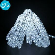 24FT LED Rope Light Decor Occasions Party 120V Cool White Expandable IP54