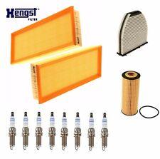 Für Mercedes-Benz W218 X218 V212 S212 R231 Kabine Luft Öl Filter + Zündkerzen
