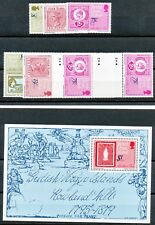 VIRGIN ISLANDS ROWLAND HILL superb U/M set+gutterpair-set (2 traffic light)+MS