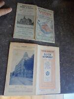 Carte Guide Touristique Automobile Plan de Vichy et alentours 190? & 1928