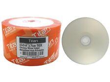 500 Titan Brand 16X Glossy Silver Inkjet HUB Printable DVD-R DVDR Disc 4.7GB