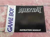 AlleyWay - Authentic - Nintendo Game Boy - Manual Only! (DMG-AW-USA-1)