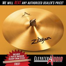 "Zildjian A 16"" Medium Thin Crash Cymbal + FREE American Hickory Drum Sticks!"