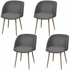 vidaXL 4x Esszimmerstuhl Dunkelgrau Küchenstuhl Polsterstuhl Stuhlgruppe