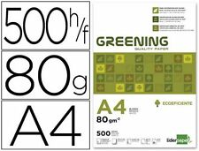 PAPEL BLANCO GREENING A4 UNIVERSAL 80 gr (500 HOJAS) - 5 PAQUETES X 500 HOJAS
