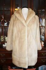 Beautiful Vintage BLOND MINK Fur Coat Women's M 8 10