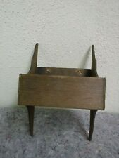 Small Primitive Wooden Hanging Match Safe