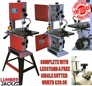"""Lumberjack 10"""" Woodworking Bandsaw Professional Cast Table Solid Fence & Blade"""