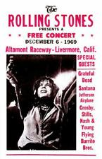Concert Posters # 14 - 8 x 10 Tee Shirt Iron On Transfer Rolling Stones-Altamont