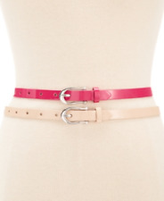 Style & Co. Patent Super Skinny Belt Set in Pink/Blush, Retail $34.00, Size Med.