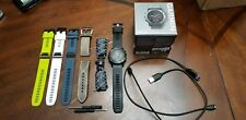 Garmin fenix 5X GPS Watch Slate Gray W/ Black Band Extra Bands excellent cond!