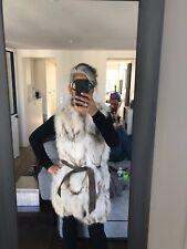 Amazing Fourrure Maje avec ceinture en cuir