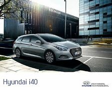 Hyundai i40 2016 catalogue brochure tcheque Czech