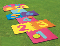 Giant Hop Scotch Indoor Outdoor Garden Family Hopscotch Game Set 210cm x 60cm