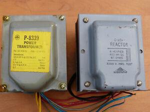 GOOD CONDITION STANCOR POWER TRANSFORMER & TRIAD CHOKE 6HY 400ma 60 OHM DCR