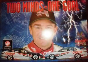 Castrol Racing Larry Perkins VT Commodore 'Two Minds One Goal' Poster 590x415mm