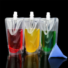 100 ~ caño de plástico 500ml Bolsa Stand Up Liquid Beba Leche Jugo Bolsa De Vino Con Tapa