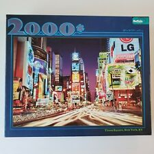 "Buffalo Games ""Times Square, New York, NY"" 2000 Piece jigsaw puzzle Complete"