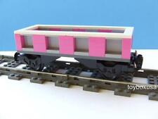 NEW City Cargo Train Custom Built w/ New Lego Bricks fits RC 9V IR Track Sets