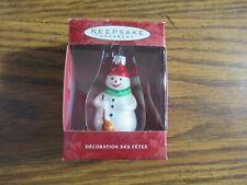 Hallmark Keepsake Li'l Snowman Blown Glass ornament in box