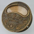 Rare Antique Ornate Victorian 8 Inch Ammeter Gauge Industrial Steampunk Decor