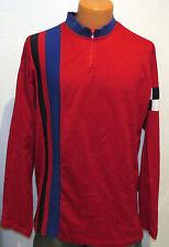 vtg Ralph Lauren RED RACING STRIPED Long Sleeve Shirt XL Checker Flag polo 80s