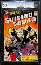 Brave and the Bold #25 CGC 3.5 DC 1959 1st Suicide Squad! Key Silver! L12 122 cm