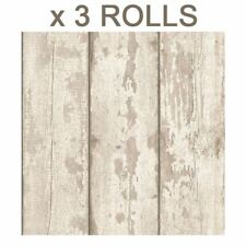 White Washed Wood Wallpaper - Arthouse 694700 Panels Cladding