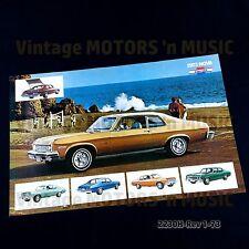 1973 Chevrolet NOS Uncirculated NOVA Poster Brochure 2230H 1/73 NO FOLDS Mint!