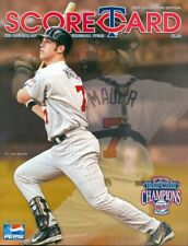 2005 Minnesota Twins vs Toronto Blue Jays Scorecard: Joe Mauer on Cover