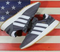 Adidas I-5923 INIKI BOOST Running Shoes Grey White Gum [BB6865] Women's size 9.5