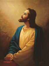 Warner Sallman JESUS OUR SAVIOR 20x16 Canvas Art Christ Looking Up to Heaven