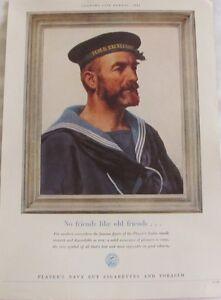Vintage 1954 Player's Navy Cut Cigarettes & Tobacco, Original Print Ad
