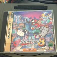 Sega Saturn Rockman 8 Metal Heroes Mega Man Manual Wear SS Japan Import F/S USED