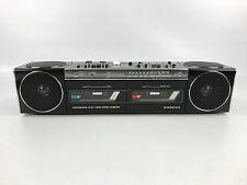 Vintage Sanyo M W550 Dual Cassette Player Boom Box Radio Retro 1985