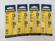 "Lot Of 4-Irwin Rotary Masonry Drill Bits 5/32"" 5026011 Tungsten Carbide Tip"