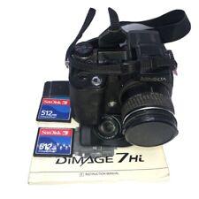 Minolta Dimage 7Hi 5.0mp 7.2-5.0.8mm (28-200mm) 7x Optical Zoom Digital Camera