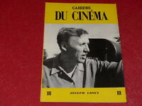 [REVUE LES CAHIERS DU CINEMA] N°111 # SEPT 1960 JOSEPH LOSEY EO 1rst Printing