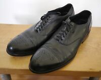 Cole Haan Nike Air Black Leather Wingtip Cap Toe Oxford Shoes Mens 11M 45