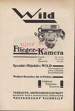 HEERBRUGG, Werbung 1928 Verkaufs-AG Heinrich Wild's Geodätische Instrumente Kame