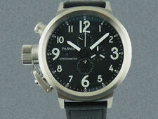Parnis 50mm  Black Dial White Number  Big Face Full chronograph Men Date watches