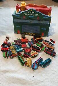 Thomas & Friends Take and Play Sodor Shipping set with bundle of trains